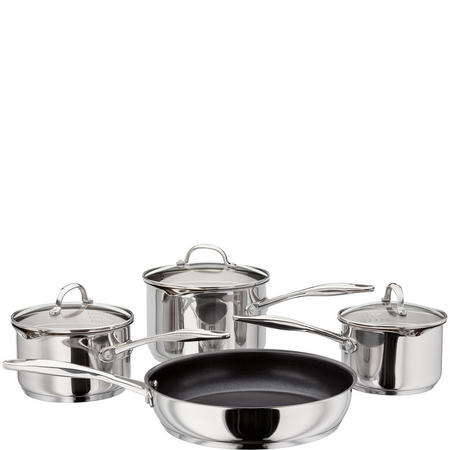 4 Piece Saucepan Set Stainless Steel