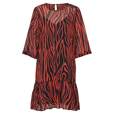 Aggy Printed Dress Red