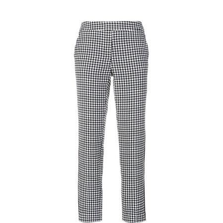Tailored Check Trousers Navy