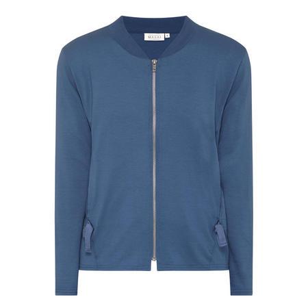Iseli Zip-Through Cardigan Blue
