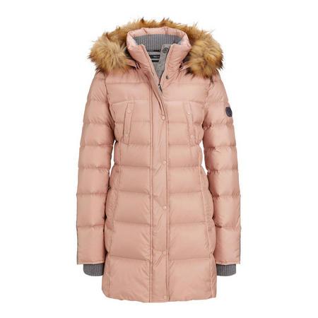 A-Line Parka Coat Pink