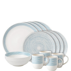 Ellen DeGeneres Polar Blue Dots 16 Piece Set