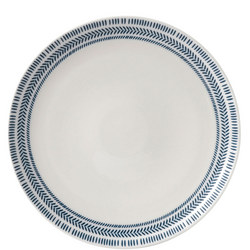 Ellen DeGeneres Dark Blue Chevron Plate 28cm