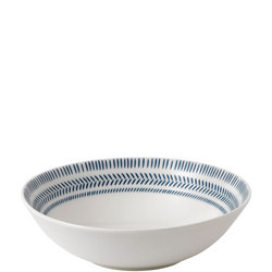 Ellen DeGeneres Dark Blue Chevron Bowl 20cm