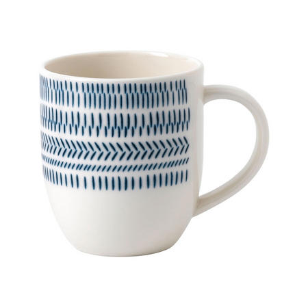 Ellen DeGeneres Dark Blue Chevron Mug 400ml