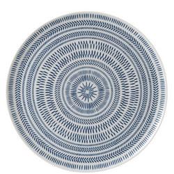 Ellen DeGeneres Dark Blue Chevron Platter 32cm