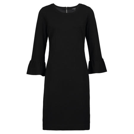 Bell Sleeve Crepe Dress Black