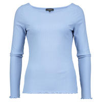 Ribbed Jersey Pullover Blue