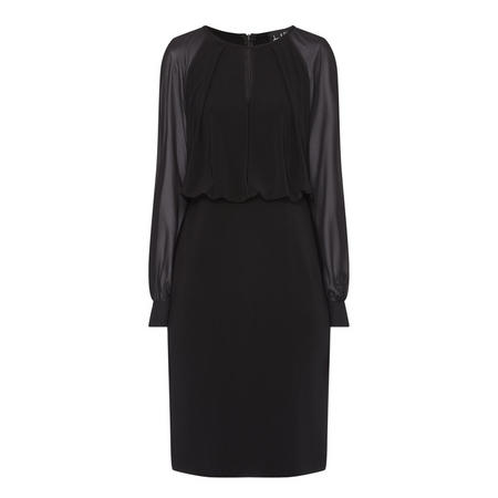 Chiffon Sleeve Dress Black