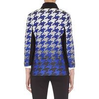 Houndstooth Print Jacket Multicolour