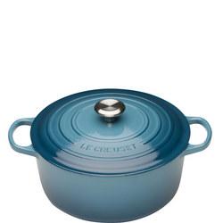 Round Cassarole Dish 28cm Marine Blue