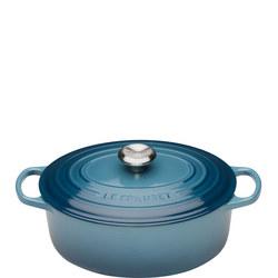 Round Cassarole Dish 29cm Marine Blue