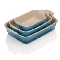Deep Rectangular Dish 19cm Marine Blue