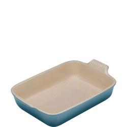 Deep Rectangular Dish 32cm Marine Blue