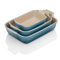 Deep Rectangular Dish 32cm Marine Blue