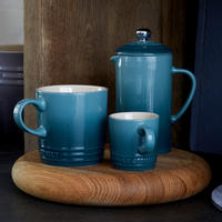 Coffee Pot & Press Marine Blue