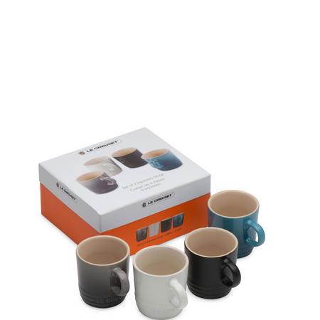 Set of 4 Espresso Mugs  Multicolour