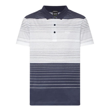 Paddy Stripe Polo Shirt Navy