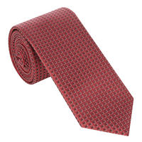 Square Pattern Tie Red