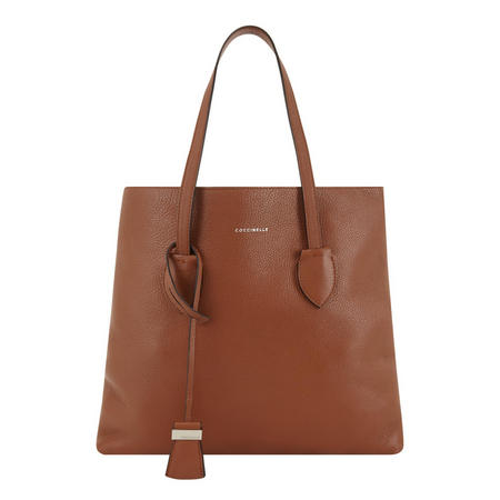 Celene Leather Tote Brown