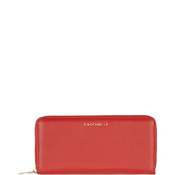 Continental Leather Wallet Red