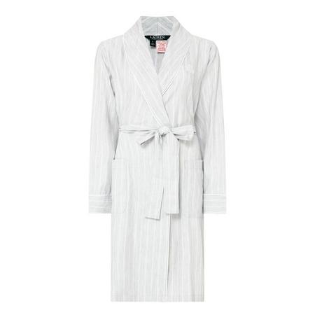 Woven Shawl Lapel Robe Grey