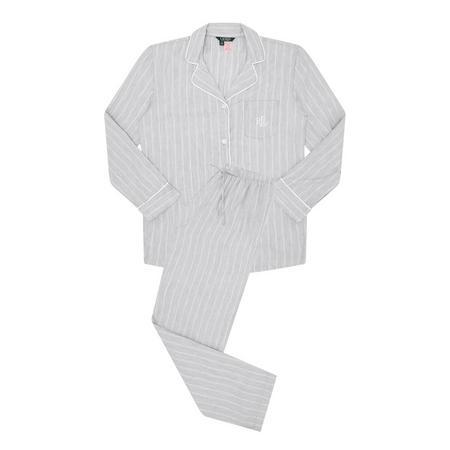 Woven Striped Pyjama Set Grey
