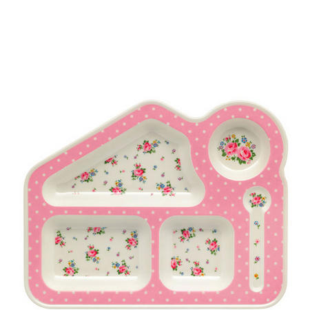 Hankie Rose Melamine Tray Pink