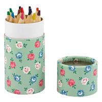 Lucky Rose Colouring Pencil Pot Blue