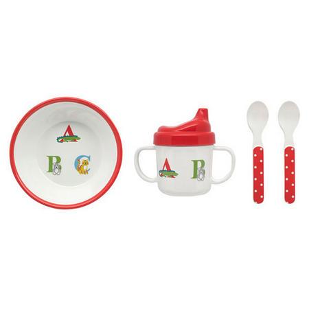 Animal Alphabet Feeding Set Multicolour