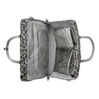Leopard Flower Print Baby Travel Bag Grey