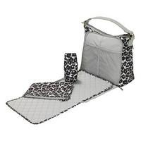 Leopard Flower Print Changing Tote Bag Grey