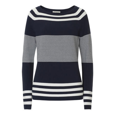 Multi-Stripe Jumper Navy