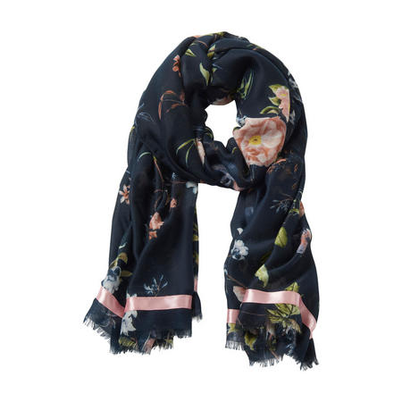 Midnight Blossom Scarf Navy