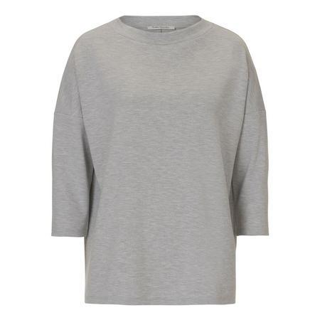 Oversize Half Sleeve Sweat Top Grey