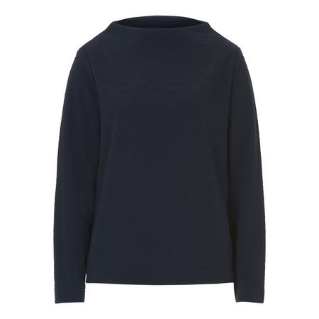 Wide Neck Sweater Navy