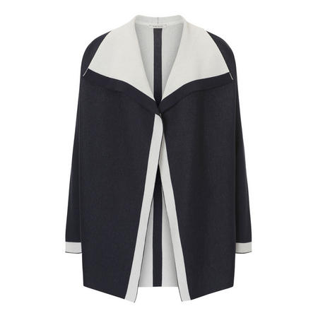 Two-Tone Cardigan Navy