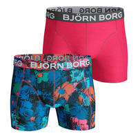 Two-Pack Flower Shades Cotton Stretch Boxers Pink