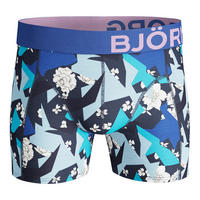 Two-Pack Geo Flower Cotton Stretch Boxers Blue