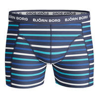 Three-Pack Stripe Essential Boxers Blue