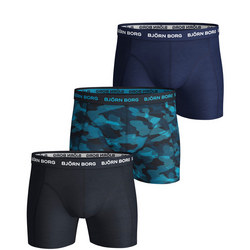 Three-Pack Camouflage Essential Boxers Blue
