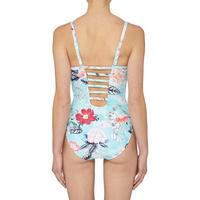 Modern Love Floral Swimsuit Blue