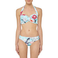 Modern Love Ruched Bikini Bottoms Blue