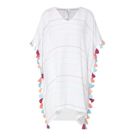 Modern Love Multi-Stripe Kaftan White