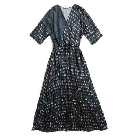 Caractere Printed Midi Dress Multicolour