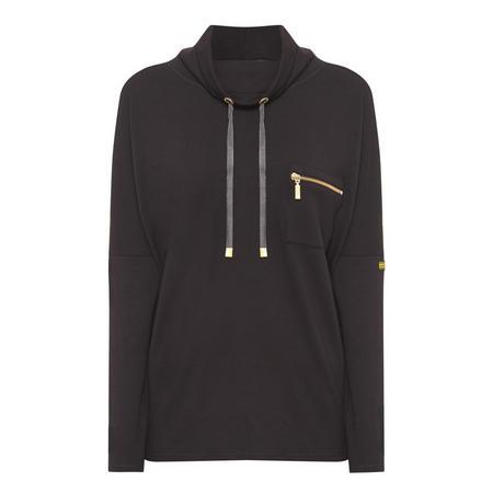 Zipped Pocket Sweatshirt Black
