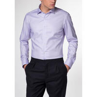 Grid Pattern Formal Shirt Purple