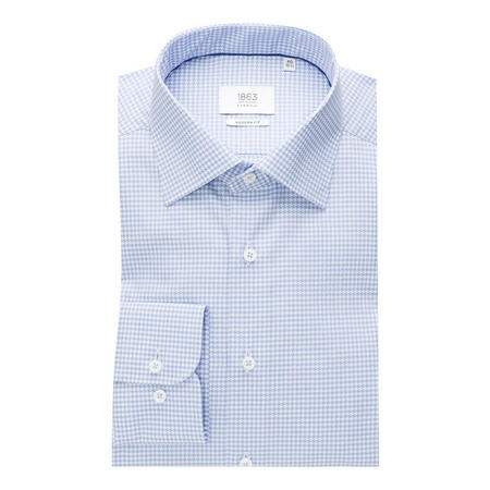 Herringbone Formal Shirt Blue