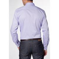 Slim Fit Satin Shirt Purple