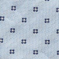 Floral Print Silk Tie Blue
